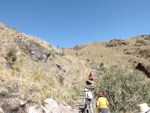 Llegando al paso de Runkurakay