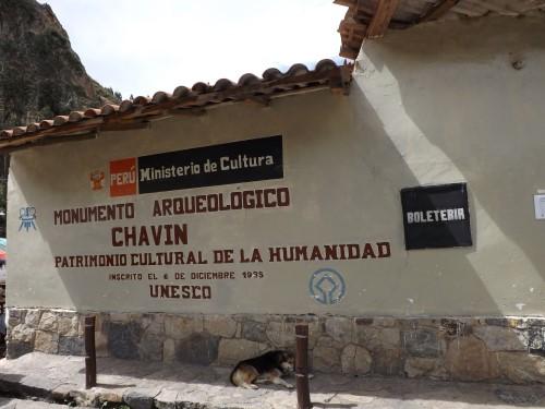 Entrada al monumento arqueológico de Chavin de Huantar
