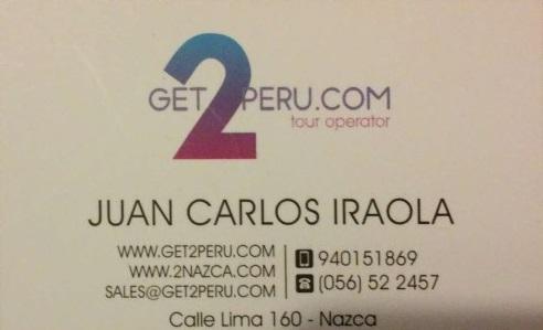 get2peru.com nuestra agencia en Nazca