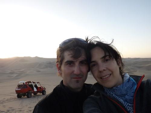 Anocheciendo en las dunas