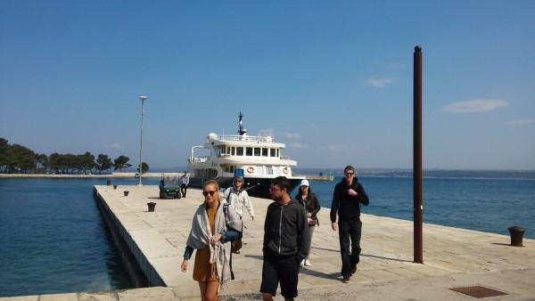 El ferry que nos llevó hasta el parque Nacional de Brijuni