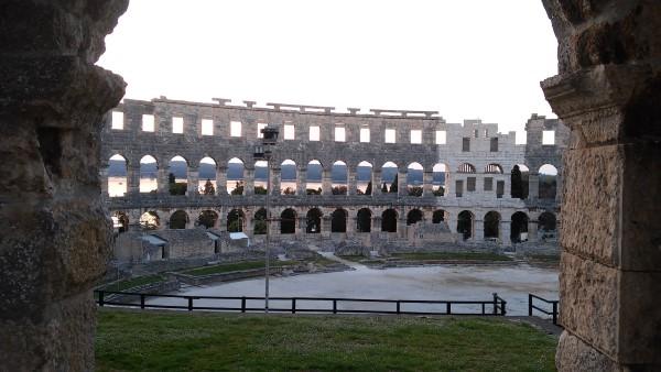 El anfiteatro por dentro