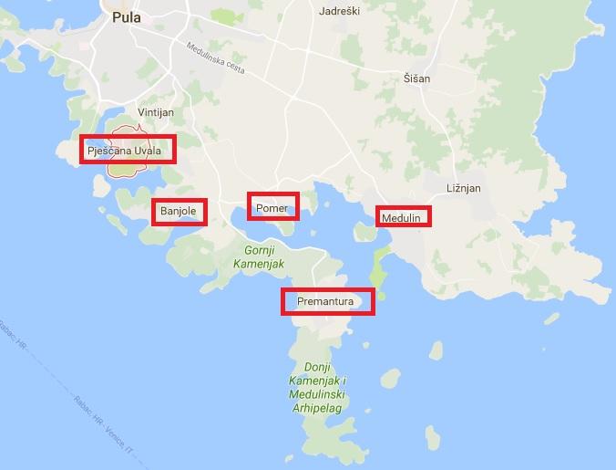 Mapa Sur Pula