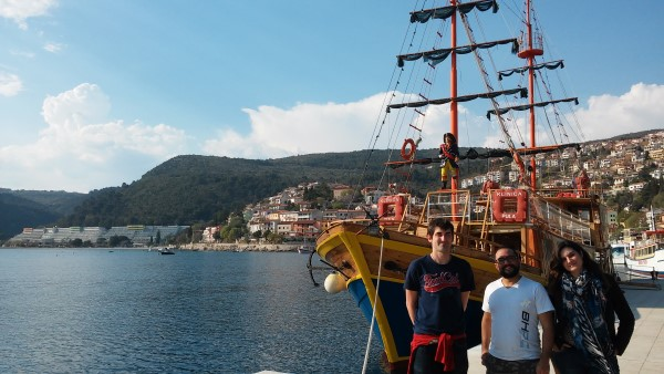 Posando enfrente del Queen of Rabac