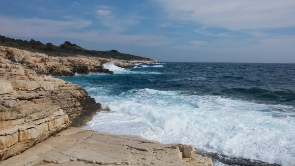 El mar estaba muy bravo