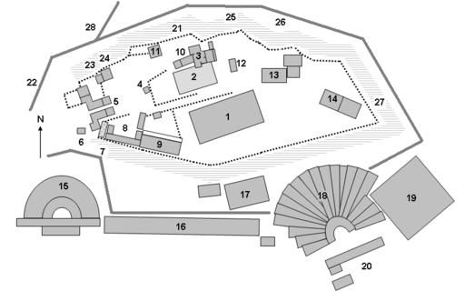 Plano de la Acrópolis. Fuente Wikipedia