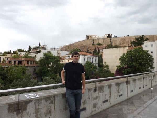 Vistas de la Acrópolis desde el museo