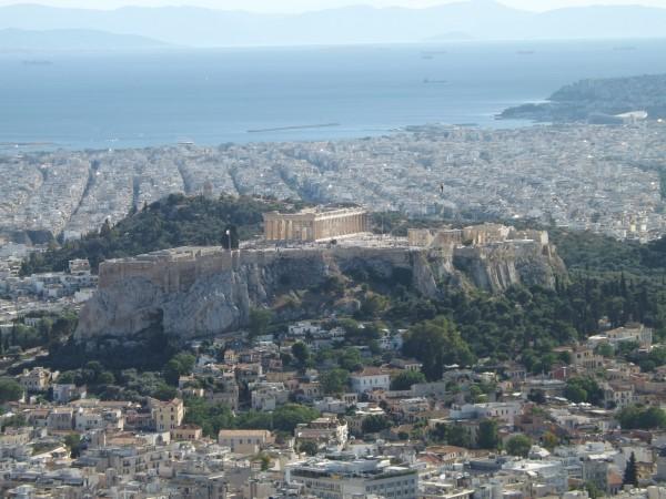 Vistas de la Acrópolis desde el monte Licabeto
