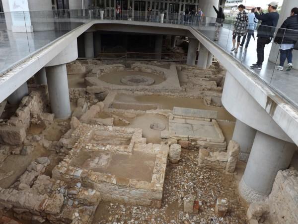 Restos de la antigua ciudad, justo enfrente del museo