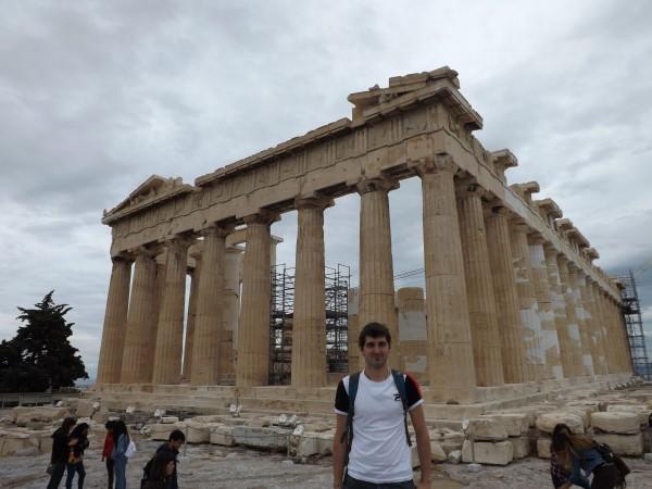 Yo en el Partenón