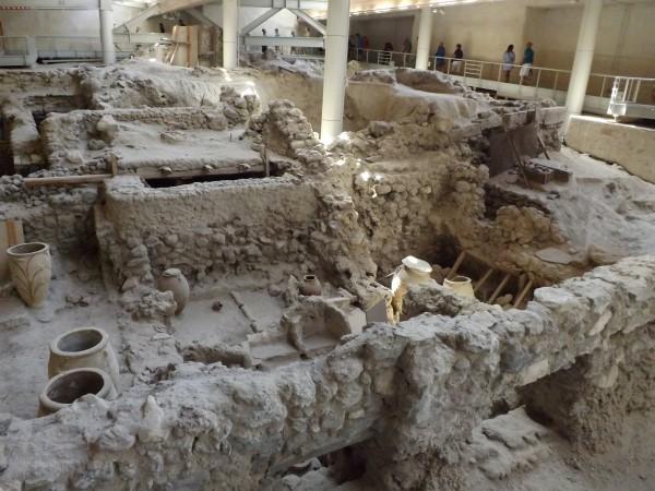 Yacimiento arqueológico de Akrotiri