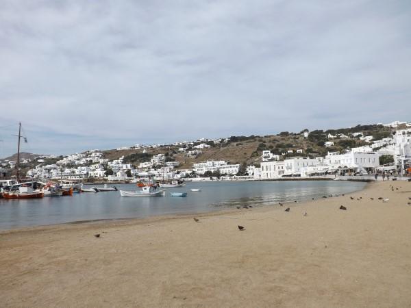 Playa del puerto viejo en la Chora
