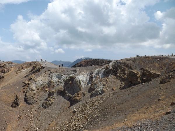 En la cima del volcán