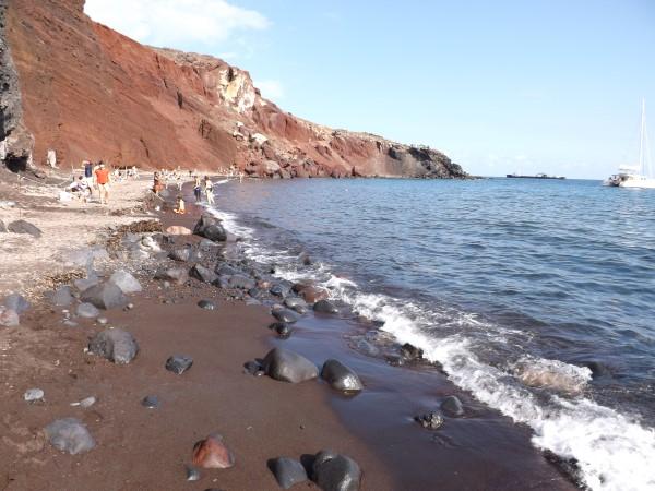 Arena de la playa Roja