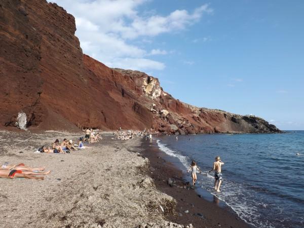 En la playa Roja
